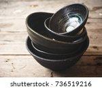 empty bowls | Shutterstock . vector #736519216