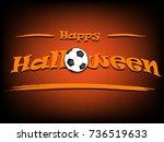 banner happy halloween and... | Shutterstock .eps vector #736519633