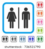 toilets icon. flat grey iconic... | Shutterstock .eps vector #736521790