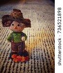 Vintage Ceramic Scarecrow On...