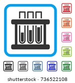 test tubes icon. flat grey...