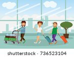 enjoy your holiday travel trip... | Shutterstock .eps vector #736523104