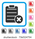 reject form icon. flat gray... | Shutterstock .eps vector #736524754