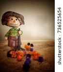 Vintage Smiley Scarecrow...