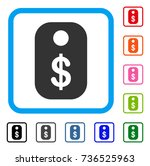 price tag icon. flat grey...