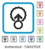 ovum penetration icon. flat... | Shutterstock .eps vector #736527019