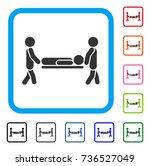 patient stretcher icon. flat...