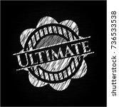 ultimate chalkboard emblem on... | Shutterstock .eps vector #736533538