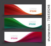 set of banner templates. ... | Shutterstock .eps vector #736535248