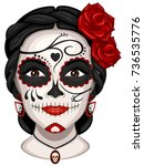 vector illustration of a woman... | Shutterstock .eps vector #736535776