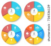 vector round infographics....   Shutterstock .eps vector #736536139