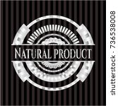 natural product silvery badge | Shutterstock .eps vector #736538008