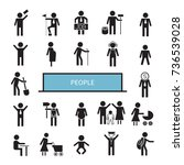 people icons set | Shutterstock .eps vector #736539028
