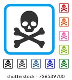 death icon. flat gray iconic... | Shutterstock .eps vector #736539700