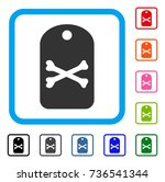 death tag icon. flat gray... | Shutterstock .eps vector #736541344