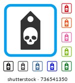 death coupon icon. flat grey... | Shutterstock .eps vector #736541350
