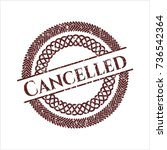 red cancelled distress rubber... | Shutterstock .eps vector #736542364