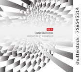 abstract geometric gray color... | Shutterstock .eps vector #736545514