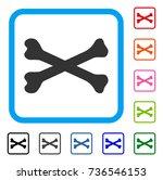 bones icon. flat gray pictogram ...