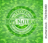 100  natural green mosaic emblem | Shutterstock .eps vector #736546480