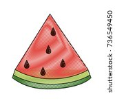 watermelon sweet fruit | Shutterstock .eps vector #736549450