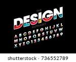 vector of modern layered font...   Shutterstock .eps vector #736552789