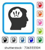 problem brainstorm icon. flat...