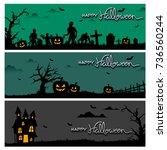 halloween logo vector | Shutterstock .eps vector #736560244