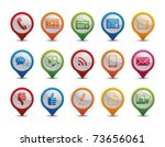 communication icons in the form ... | Shutterstock .eps vector #73656061