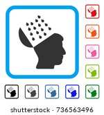 brain shower icon. flat grey...