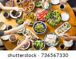 family food to eat | Shutterstock . vector #736567330