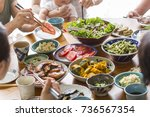 family food to eat | Shutterstock . vector #736567354