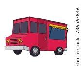 ice cream van | Shutterstock .eps vector #736567846