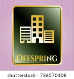 gold shiny emblem with... | Shutterstock .eps vector #736570108