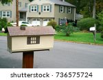 mailbox in the residential area | Shutterstock . vector #736575724