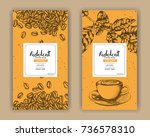 sketch drawing art for coffee... | Shutterstock .eps vector #736578310