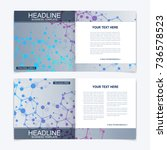 templates for square brochure....   Shutterstock .eps vector #736578523