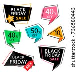 set of discount sticker and... | Shutterstock .eps vector #736580443