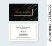 luxury business cards vector... | Shutterstock .eps vector #736581700