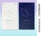 clock application  concept of...