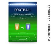 poster template of football... | Shutterstock .eps vector #736588138