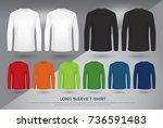 men's long sleeve t shirt  set... | Shutterstock .eps vector #736591483