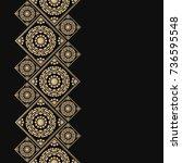 golden frame in oriental style. ... | Shutterstock .eps vector #736595548