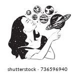 vector hand drawn illustration... | Shutterstock .eps vector #736596940