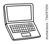 computer notebook   cartoon... | Shutterstock .eps vector #736597054