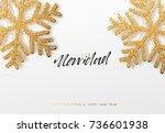 spanish text feliz navidad.... | Shutterstock .eps vector #736601938