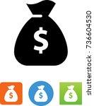 money bag icon | Shutterstock .eps vector #736604530
