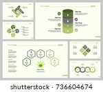 six employment slide template...