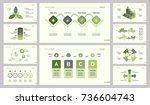 ten analytics slide template set | Shutterstock .eps vector #736604743