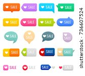 set of sale tags. sale  price... | Shutterstock .eps vector #736607524
